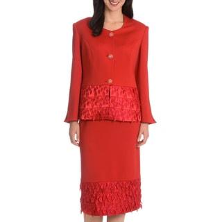 Giovanna Signature Women's Tassel Skirt Suit