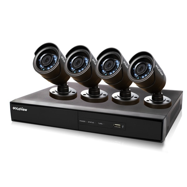 LaView Complete 8-channel 960H Security System with Remote Viewing 500GB HDD and 4 600TVL Bullet Cameras