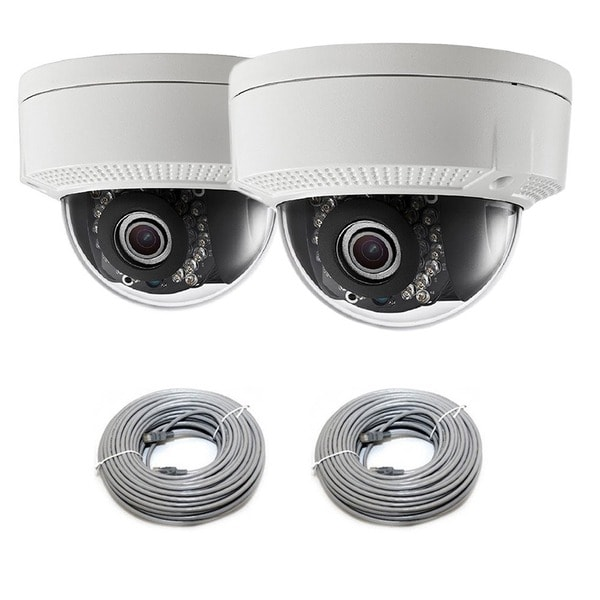 LaView IP Dome Camera 2.0 MP 1080p High Definition with 2 Cables (Pack of 2)