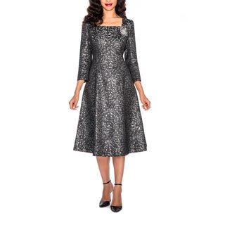 Giovanna Signature Women's Metallic Pattern Dress