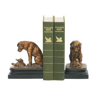 Sterling Pair Turtle And Labrador Retriever Bookends