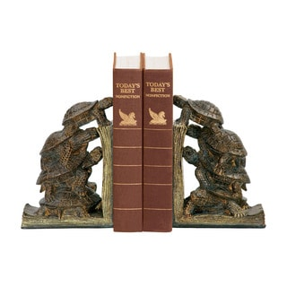 Sterling Turtle Tower Bookends