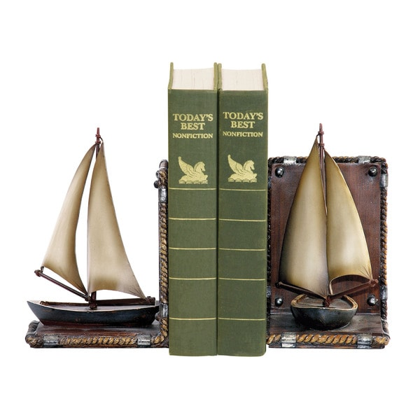 Sterling Pair Sailboat Bookends