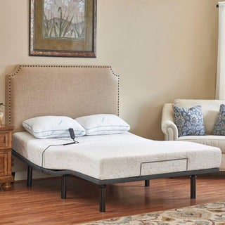 Purelife McKinley 8-inch King-size Memory Foam Mattress with Head-up Adjustable Base