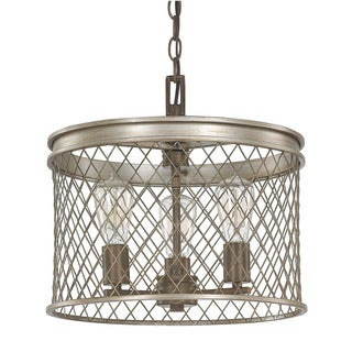 Capital Lighting Donny Osmond Eastman Collection 3-light Silver and Bronze Pendant