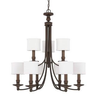 Capital Lighting Midtown Collection 9-light Burnished Bronze Chandelier