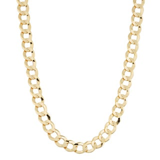 Fremada 14k Yellow Gold 5.7-mm High Polish Solid Curb Link Necklace