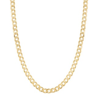 Fremada 14k Yellow Gold 3-mm High Polish Solid Curb Link Necklace