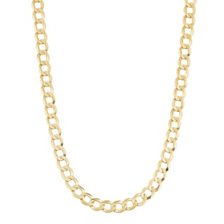 Fremada 14k Yellow Gold 3.8-mm High Polish Solid Curb Link Necklace