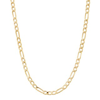 Fremada 14k Yellow Gold 2.3-mm High Polish Solid Figaro Link Chain Necklace (18 - 30 inches)