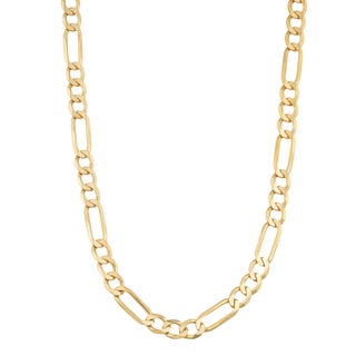 Fremada 14k Yellow Gold 4.3-mm High Polish Solid Figaro Link Chain Necklace (18 - 30 inches)