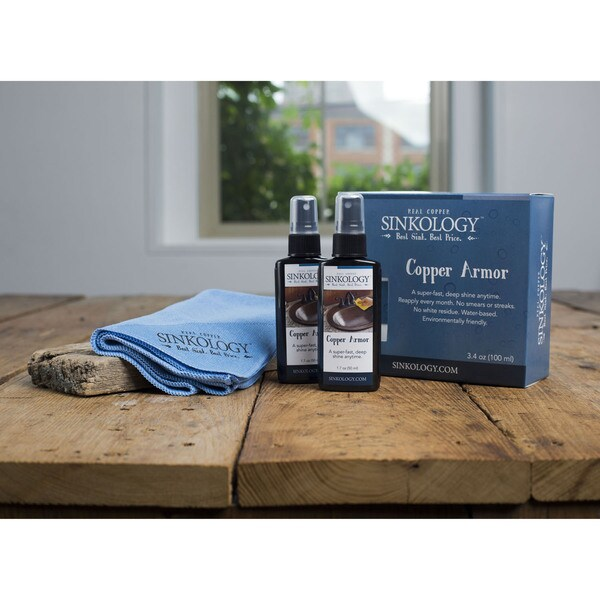 Copper Armor Care Kit, Spray Carnauba Wax and Microfiber Cloth
