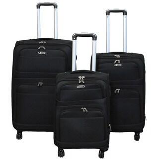 World Traveler Zota Collection 3-piece Upright Spinner Luggage Set