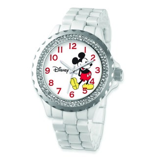 Disney Women's Crystal Bezel Mickey Mouse Watch