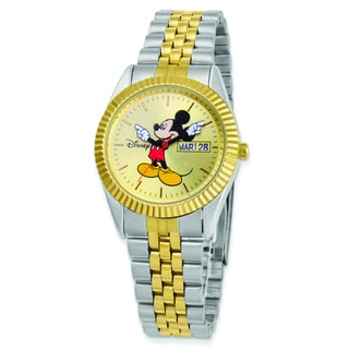 Disney Women's Two-tone Moving Arms Mickey Mouse Watch