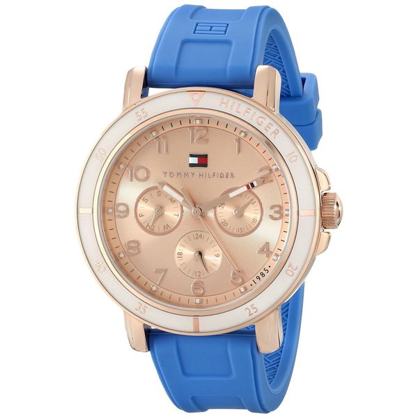 Tommy Hilfiger Women's 1781512 'Original' Multi-Function Blue Silicone Watch