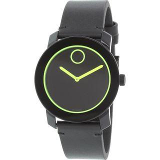 Movado Men's 3600273 'Bold' Black Leather Watch