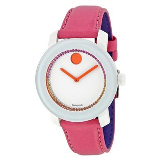Movado Women's 3600216 'Bold' Pink Leather Watch