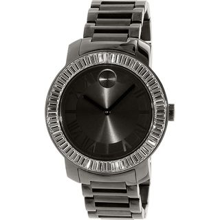 Movado Women's 3600248 'Bold' Crystal Black Stainless Steel Watch