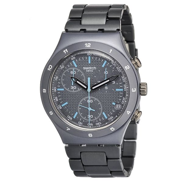 Swatch Men's YCM4001AG 'Irony' Chronograph Grey Aluminum Watch