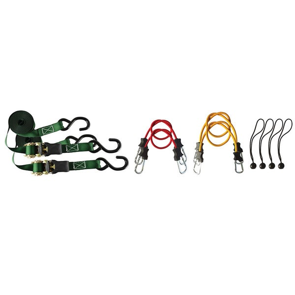 Secure It 10-piece Ratchet and Bungee Kit