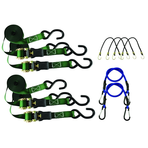 Secure It 10 Piece Ratchet and Bungee Kit