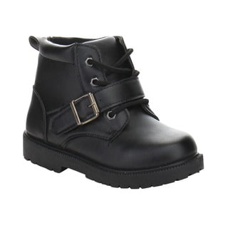 Daviccino DB-04 Boys' Lace Up Lug Sole Ankle Booties
