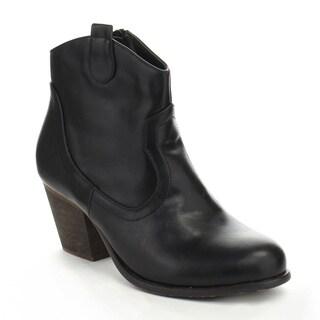 De Bengonia XZ-04 Women's Cowboy Western Style Side Zip Chunky Ankle Booties