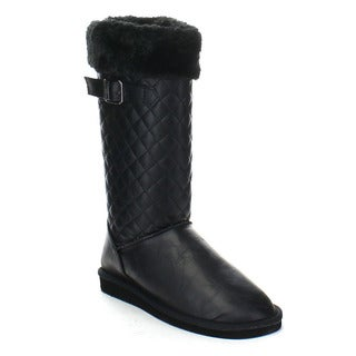 FOREVER ALING-83 Women's Stylish Winter Knee High Snow Flat Boots