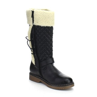 FOREVER ALYSON-42 Women's Stylish Winter Knee High Lace Up Buckle Boots