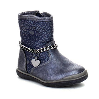 Daviccino DGI-01 Toddler Girls Comfort Stylish Chain Deco Flat Boots