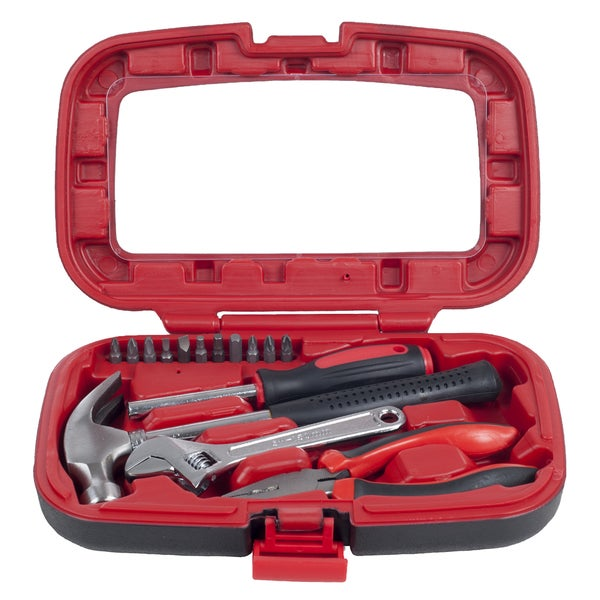 Stalwart 15 Piece Tool Kit - Household Car and Office