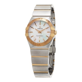 Omega Women's 123.20.27.60.05.001 'Constellation' Mother of Pearl Dial Stainless Steel/Rose Gold Swiss Quartz Watch