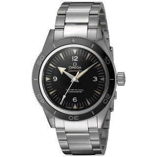 Omega Men's 233.30.41.21.01.001 'Seamaster 300' Black Dial Stainless Steel Swiss Automatic Watch
