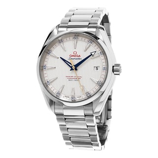 Omega Men's 231.10.42.21.02.004 'Seamaster 150 Aqua Terra' Silver Dial Stainless Steel Swiss Automatic Watch