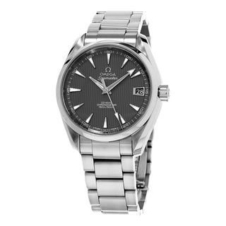 Omega Men's 231.10.39.21.06.001 'Co-Axial AquaTerra' Grey Dial Stainless Steel Swiss Automatic Watch