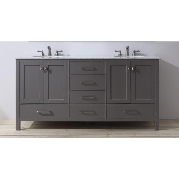 Stufurhome 72 Inch Malibu Grey Double Sink Bathroom Vanity 17659910 Overs