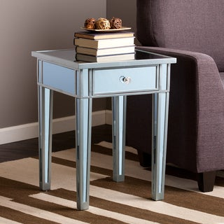 Upton Home Sutcliffe Blue Colored Mirror Accent Table