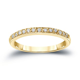 Auriya 14k Gold 1/6ct Round-Cut Diamond Wedding Band (H-I, SI1-SI2)