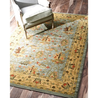 nuLOOM Traditional Ziegler Kashan Fancy Slate Rug (9' x 12')