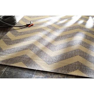 nuLOOM Indoor/ Outdoor Aperto Chevron Porch Grey Rug (5' 11x 9')