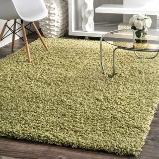 nuLOOM Plush and Soft Shag Thyme Green Rug (9' 2 x 12')