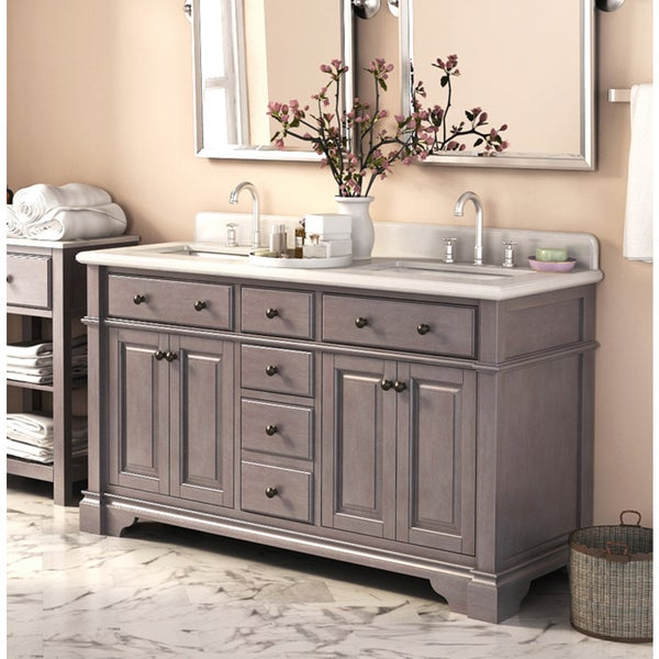 Casanova 60-inch Double Sink Vanity with Backsplash