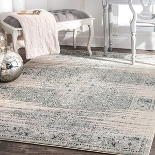 nuLOOM Traditional Vintage Abstract Blue Rug (9' x 12')
