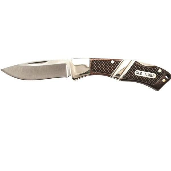 Old Timer Mountain Beaver Jr Lockback Folder-leather Sheath