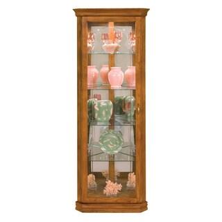 Philip Reinisch Co. Lighthouse Tempo Corner Oak Curio Cabinet