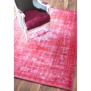 nuLOOM Vintage Inspired Adileh Overdyed Pink Rug (9'2 x 12'5)