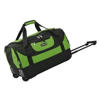 Traveler's Club Adventure 20-inch Multi-Pocket Sports Rolling Carry-on Duffel