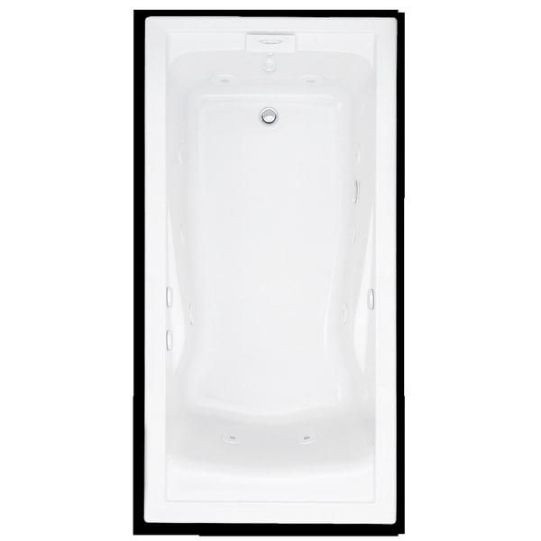 American Standard Evolution Whirlpool White Bathtub