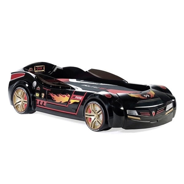 Turbo Car Bed - Night Rider with Mattress